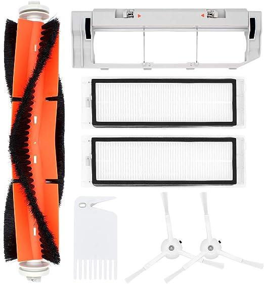 Subtop Kit de Accesorios para XIAOMI MI Robot Roborock Aspiradoras Repuestos 1 Cepillo Principal 2 Cepillos Laterales 2 Filtros HEPA