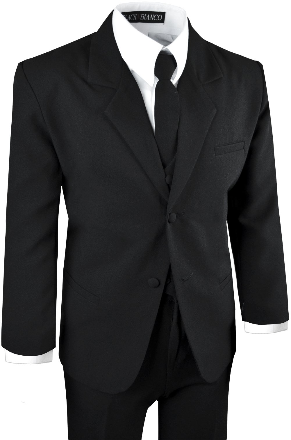 Boys Black Tuxedo Suit with Tie Young Boys Youth Size 16 by Black n Bianco (Image #5)
