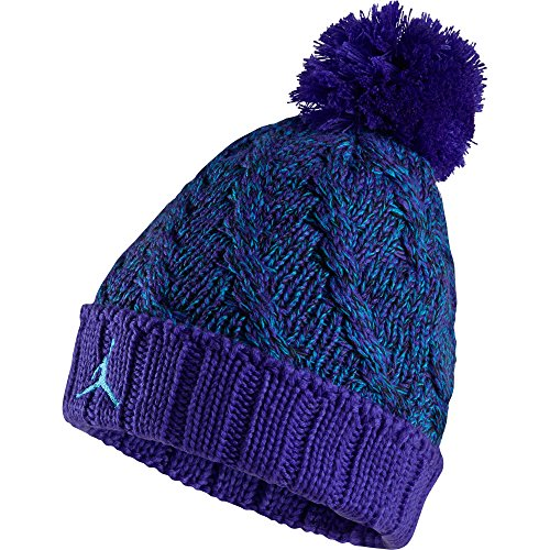 Jordan Jumpman Cable Pom Beanie Hat Cap Purple Sky Blue 706608-479 (Size  os) - Buy Online in Oman.  809f8825f5f