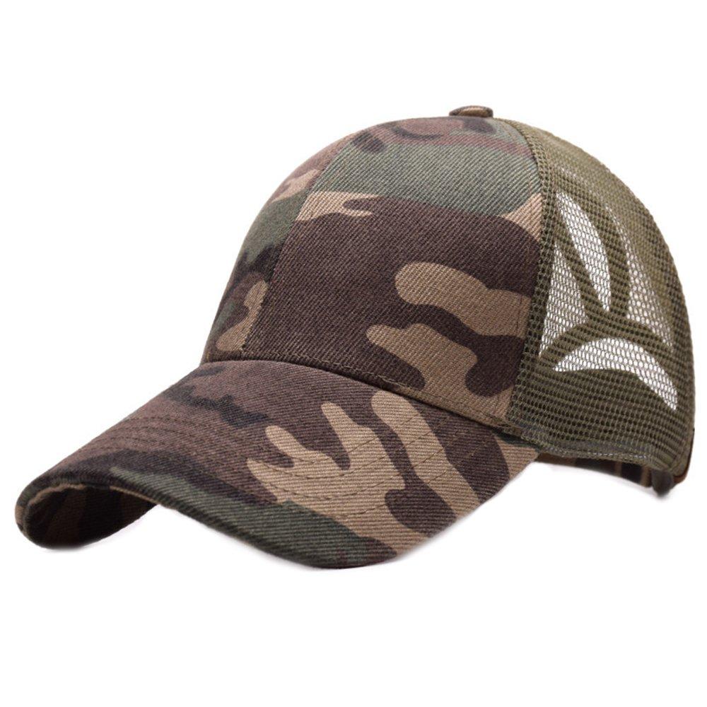 Alljoin Ponytail Hats Adjustable Mesh Ponytail Baseball Cap Hat for Women Men Girl