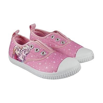 Disney Die Eiskönigin 2300002888 Mädchen Sneaker, Schuhe, Canvas, Rosa, Elsa, Anna