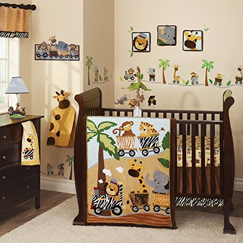 Lambs & Ivy Safari Express Bedding Collection (9 Piece Bedding (Safari Nursery Bedding)