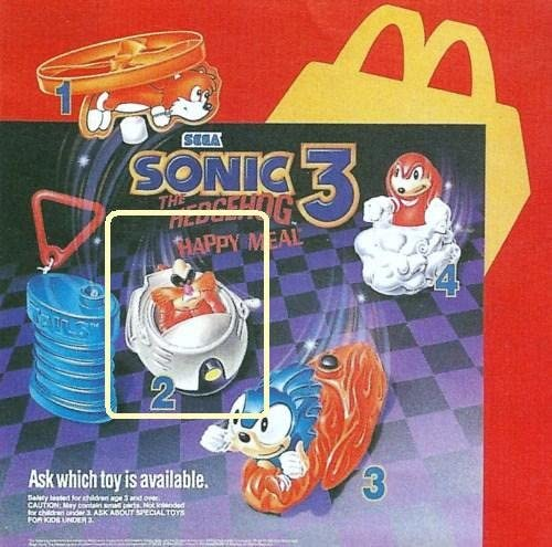 Amazon Com Happy Meal Sonic The Hedgehog 3 Dr Ivo Robotnik Figure In Wind Up Vehicle 1993 Everything Else