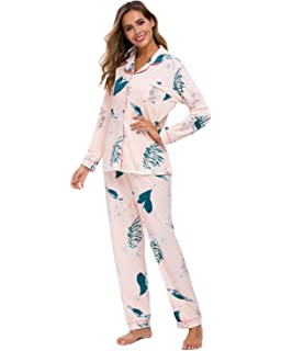 Ladies Ex-High Street Pure Cotton Long Sleeve Check Print Pyjama Set PJ/'s