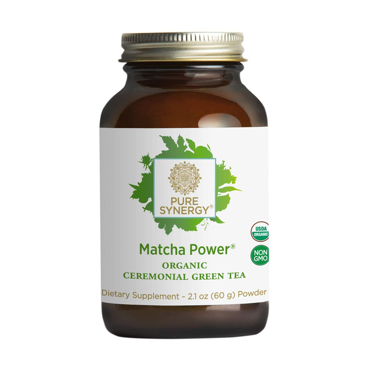 Pure Synergy USDA Organic Matcha Power (2.1 oz Powder) Ceremonial Japanese Green Tea Powder