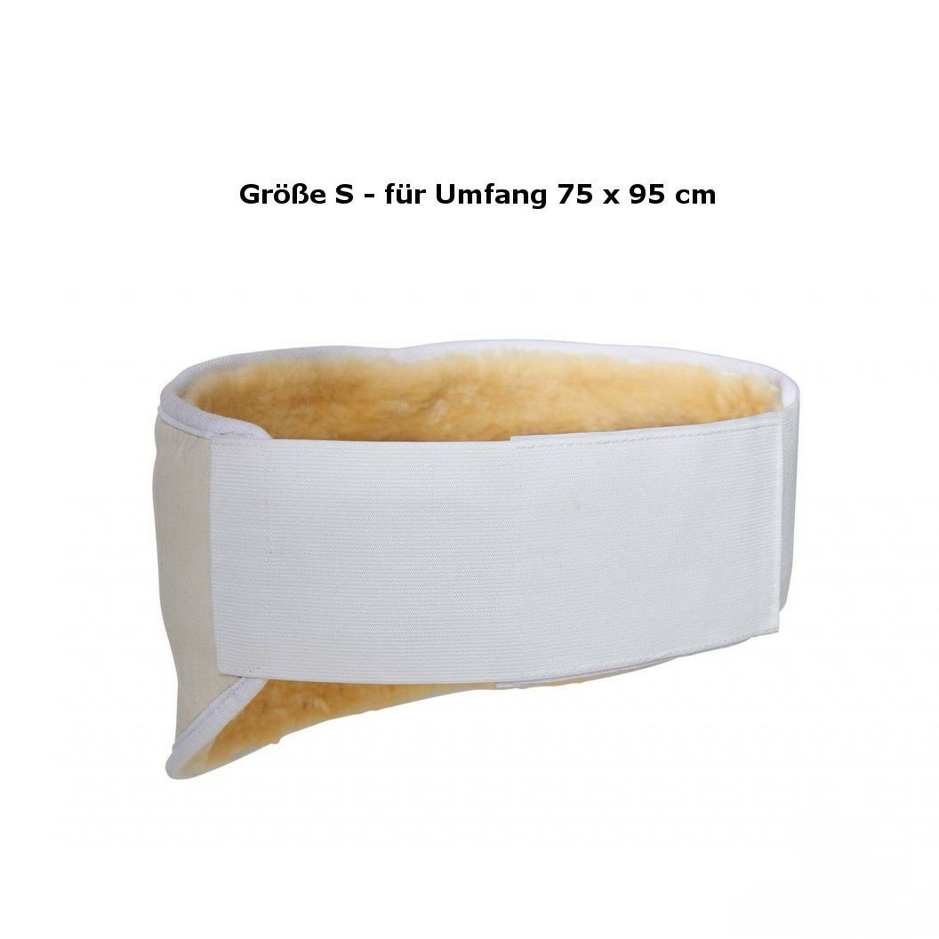 Neues Modell Flexigurt Lammfell Nierengurt Fellgurt Nierenschutz Nierenw/ärmer in der Gr/ö/ße S f/ür 75-95 cm Umfang