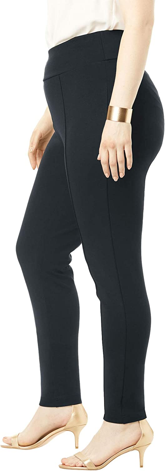 Roamans Womens Plus Size Ultimate Ponte Seamed Legging