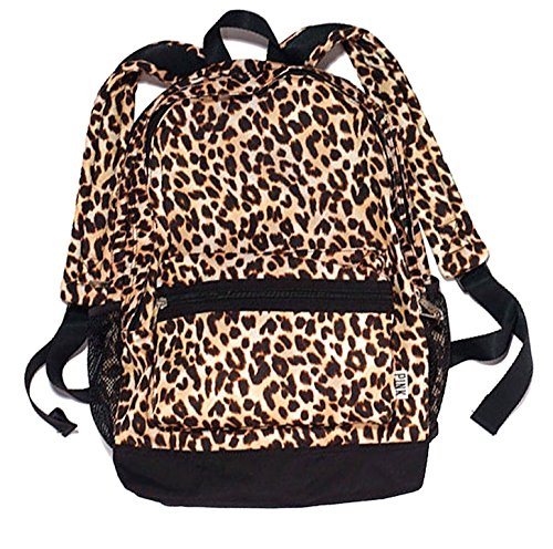 NEW PINK Cheetah Print Backpack W/Bottle Holders ()