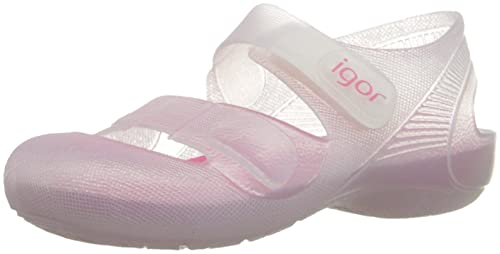 Zapatillas de Agua para niña con Velcro Modelo Bondi Bicolor, de Igor - Blanco, 33: Amazon.es: Zapatos y complementos