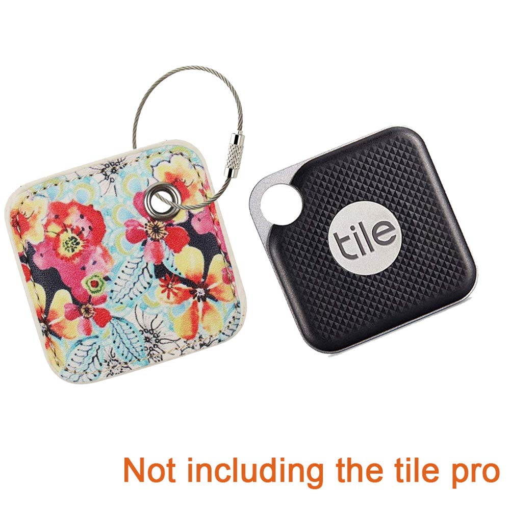 Case Compatible for Tile Pro 2020//2018//Combo 2017-Key Finder Item Locator with Replaceable Battery Cover Only Flower 1 Pack Anything Finder Phone Finder