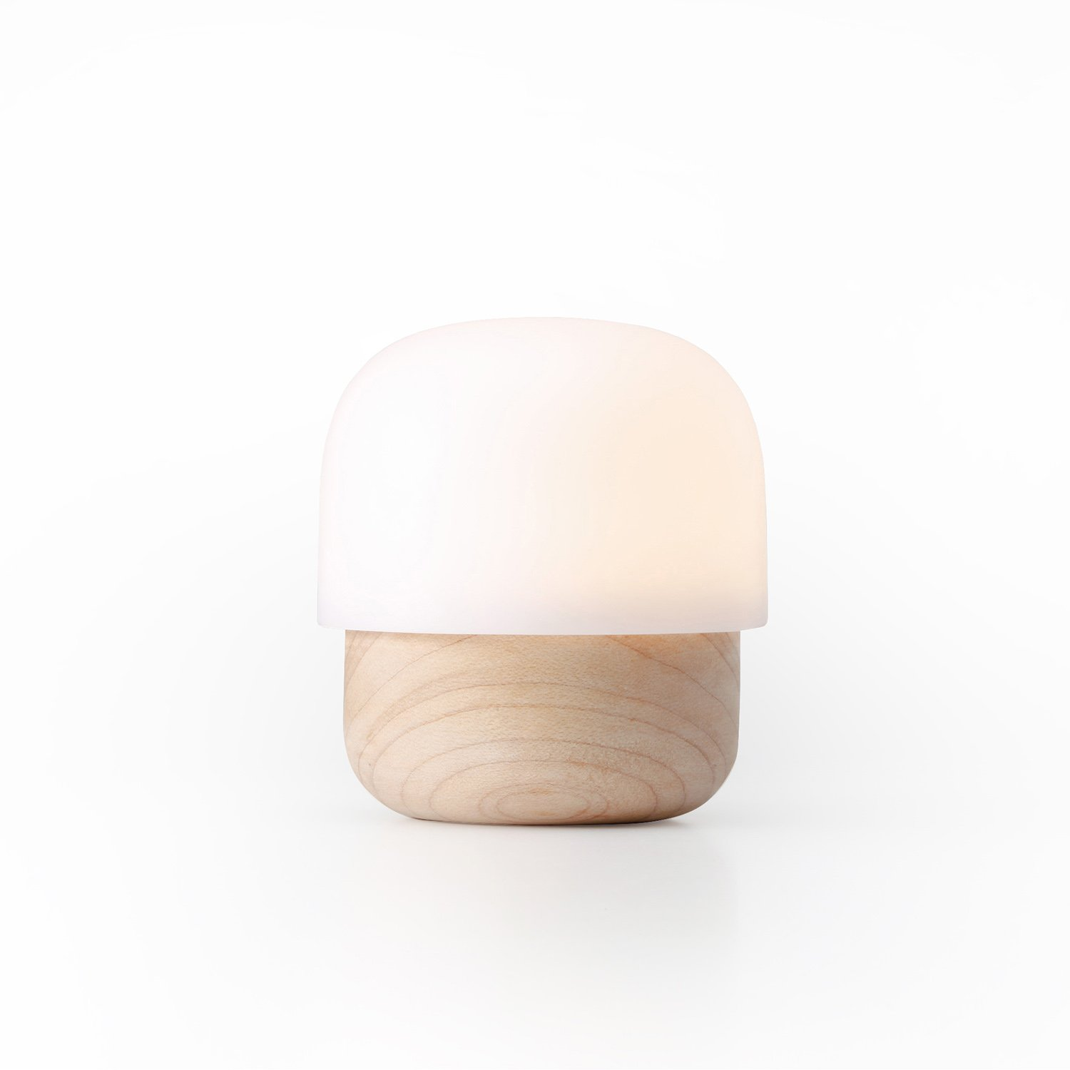 TAKIESO Mini Mushroom Light D2 ZIISTLE, Night Light for Kids in The Bedroom, Mini-Size Portable, Built-in LED Beads Close to Nature Light (Maple Wood & Anti-Allergy PC). by TAKIESO (Image #1)