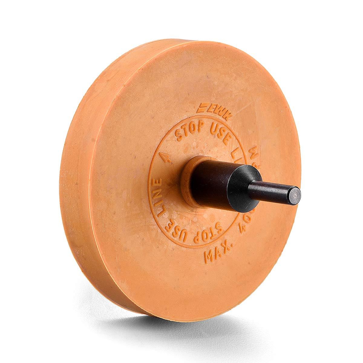 EWK Rubber Eraser Wheel Decal Vinyl Sticker Adhesive Remover Pinstripe Removal Tool Pad /& Adapter EB0153