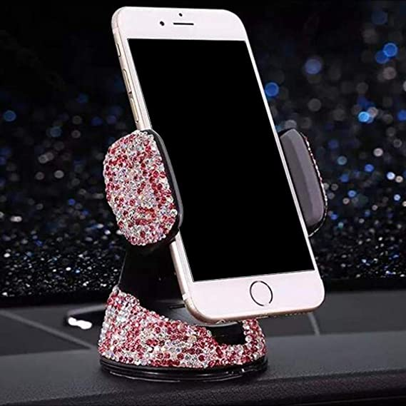 ABS Universal Auto Phone Holder Air Vent Base Crystal Mount Dashboard Windshield