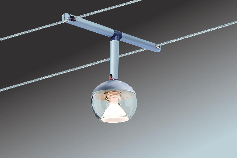 Paulmann 941.28 Seilsystem Cardan LED Set Warmweiß 6x4W Chrom/Weiß ...