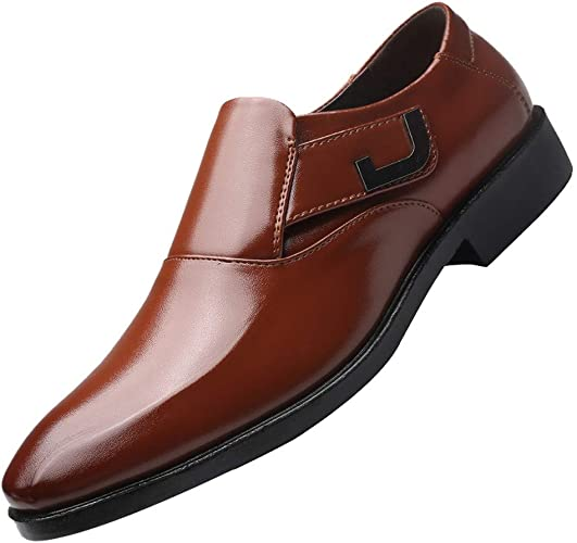 Sannysis Leder Schuhe Herren Anzugschuhe Business Schuhe Lederschuhe aus Leder für Beruf und Anzug Rindleder Schwarz Braun Größe 38 47