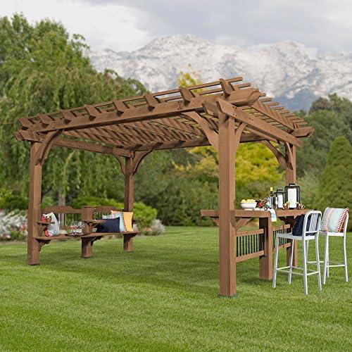 Backyard descubrimiento Oasis 14 x 10 Pergola Cedar Pergola: Amazon.es: Jardín