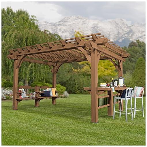 Garden and Outdoor Backyard Discovery Oasis 14 x 10 Pergola Cedar Pergola pergolas