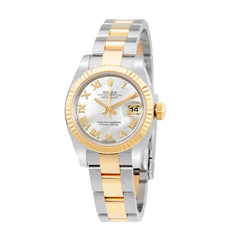Rolex Lady Datejust 26 Mother of Pearl Dial Stainless Steel and 18K Yellow Gold Rolex Oyster Automatic Watch 179173MRO
