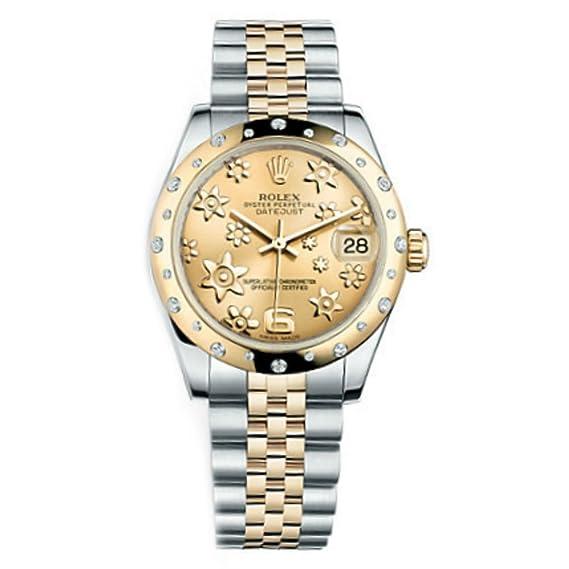 Rolex Datejust Champagne Floral Dial de la mujer reloj m178343 – 0013