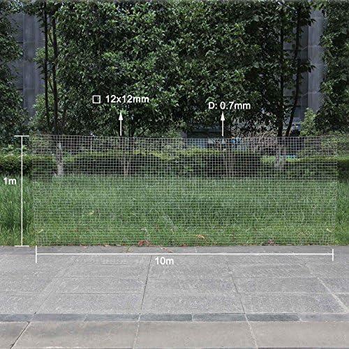 WilTec Malla Alambre metálica gallinero Cierre metálico galvanizado Rollo 1mx10m mallado 12x12mm Jardín: Amazon.es: Productos para mascotas