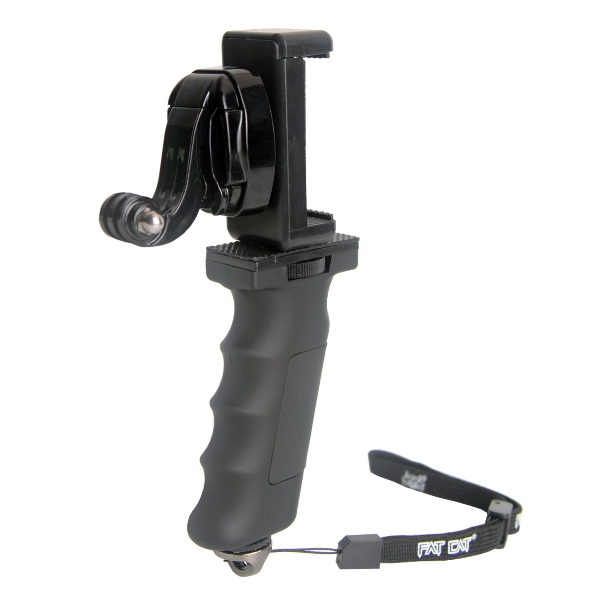 Ergonomic Action Camera Handle Grip Support w/ Smartphone Clip for GoPro Grip Holder Support for GoPro Hero 5 /4/3/Session Garmin Virb XE Xiaomi Yi SJCAM Hand Grip Mount Selfie Stick by non-brand (Image #6)