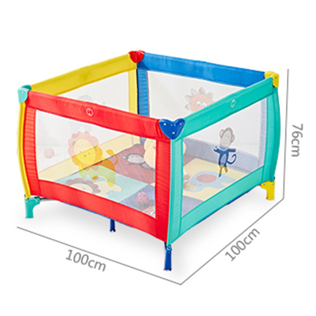 Activity & Entertainment playpens for babies playpens for toddler Protective Fence playpen baby Play Yard Home play fence Playmat Baby Playards Color : Multicolor, Size : 100 * 100 * 76cm