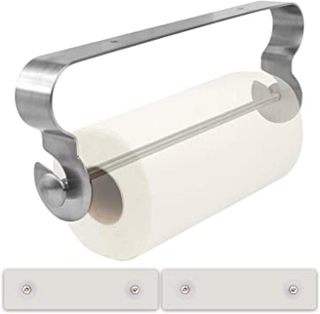 Paper Towel Holder Stainless Steel One-Handed Tearing Blue ONLY for Smooth COUNTERTOPS Kitchen Roll Holder Free Standing No Drilling Required