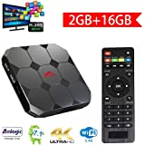 Greatlizard Android 7.1 A95x R2 TV Box 2GB DDR3 16GB EMMC Amlogic Quad Core 32bit 4K Finale HD 2.4G Wifi