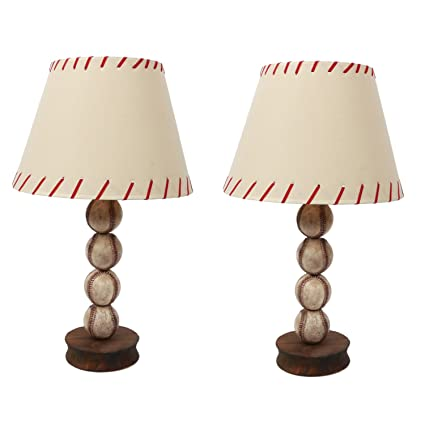 dei stacked baseball lamp set of 2 dcor medium natural - Baseball Lamp