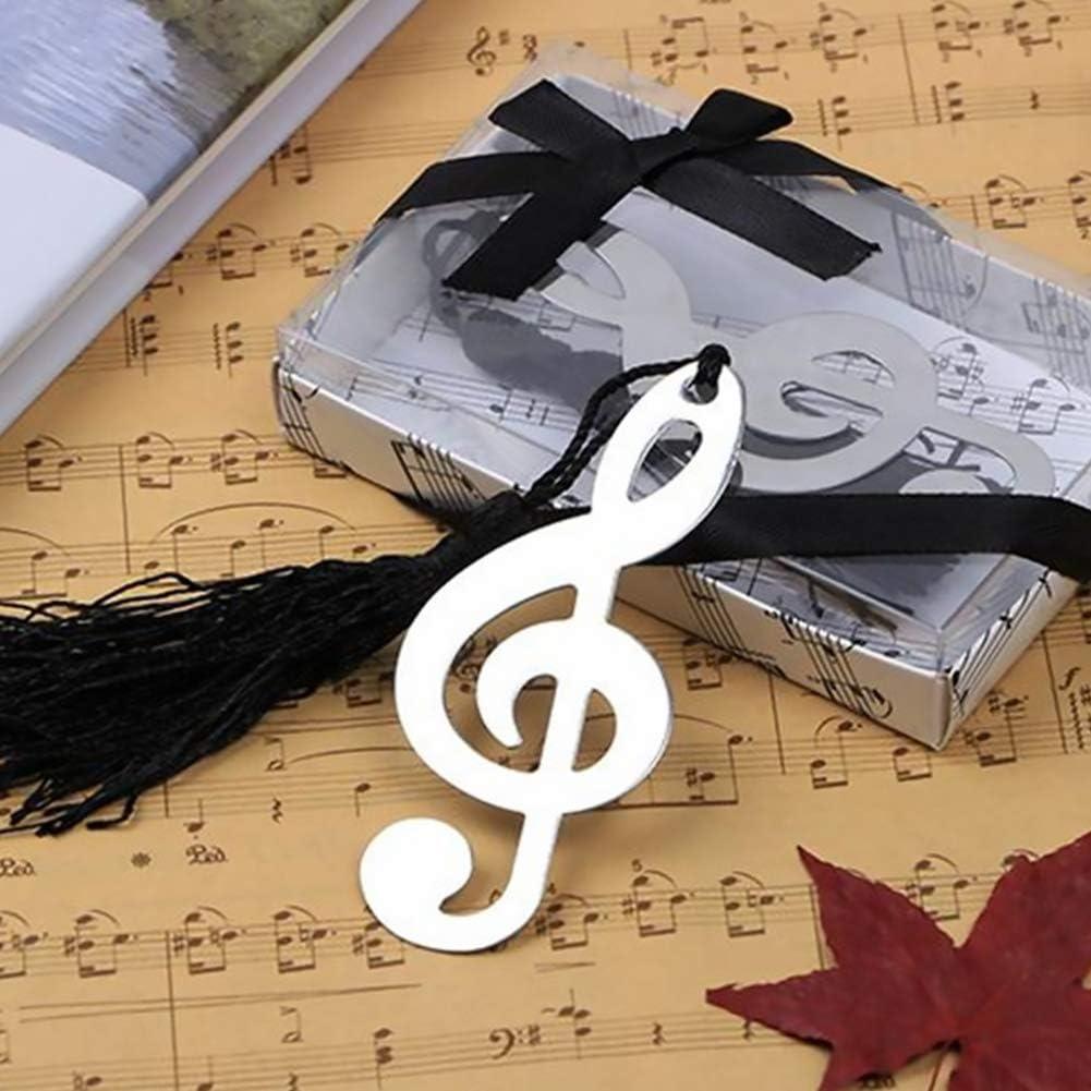 Accessori per la cavit/à del metallo note musicali Preferiti elegante nappa di seta Bookmark Scuola /& Ufficio