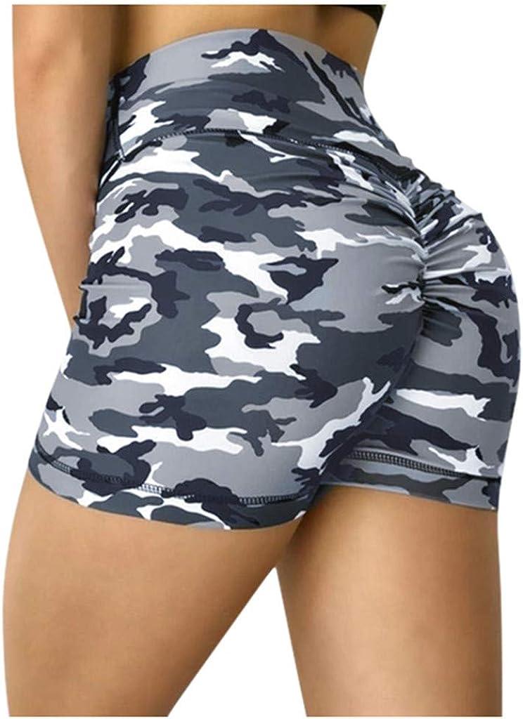 SHOBDW Pantalones Cortos Mujer Verano 2020 Mujer Regalo Yoga Leggings Mujer Fitness Push Up Cintura Alta Camuflaje Sexy Ropa Deportiva Mujer Pantalones Cortos Tallas Grandes
