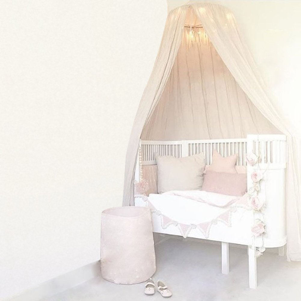 Round Dome Hanging Bed Canopy Mosquito Net Curtain for Baby Kids Playing Home Decor Dark Green
