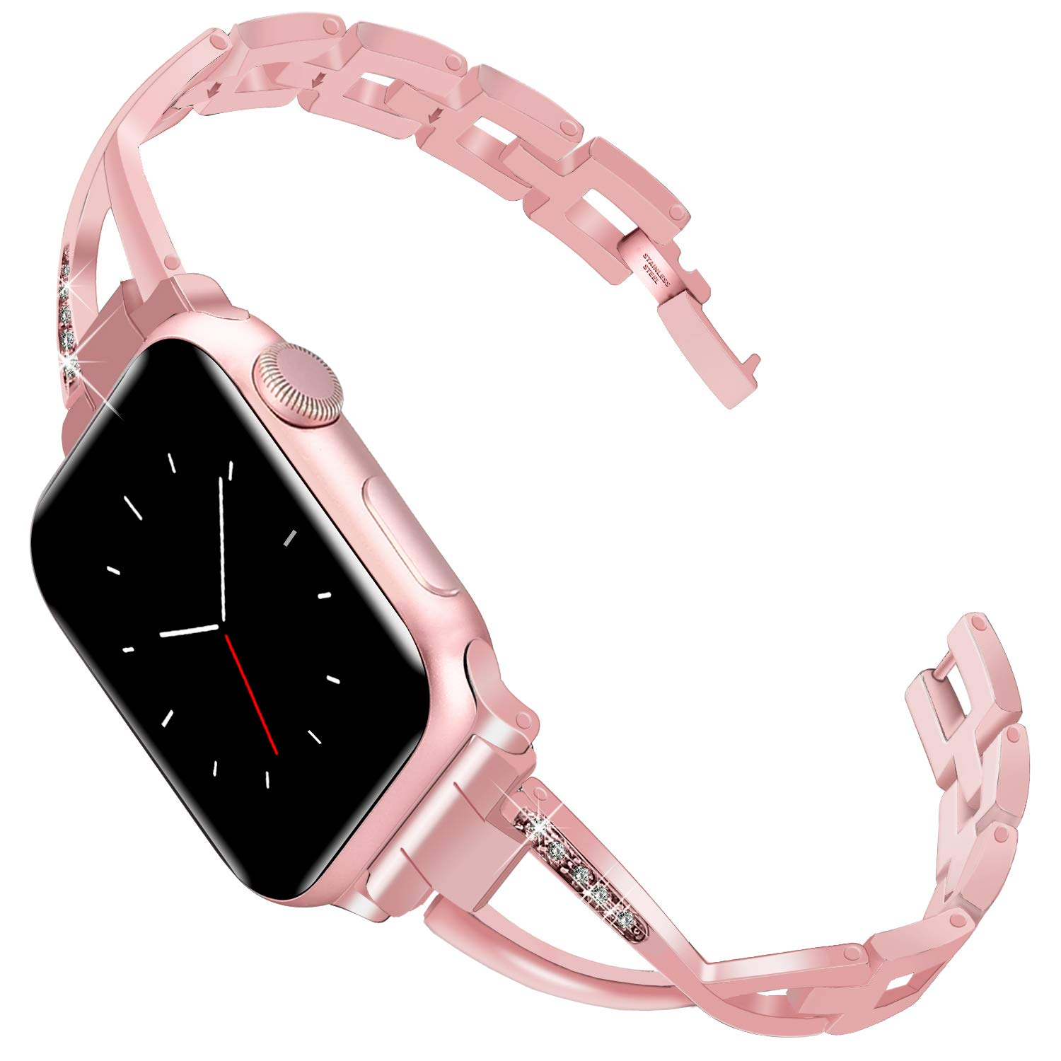 Lwsengme Compatible with Apple Watch Band 38mm 42mm 40mm 44mm, Classic Women Watch Bracelet Wristband for iWatch Series 4 Series 3 Series 2 Series 1