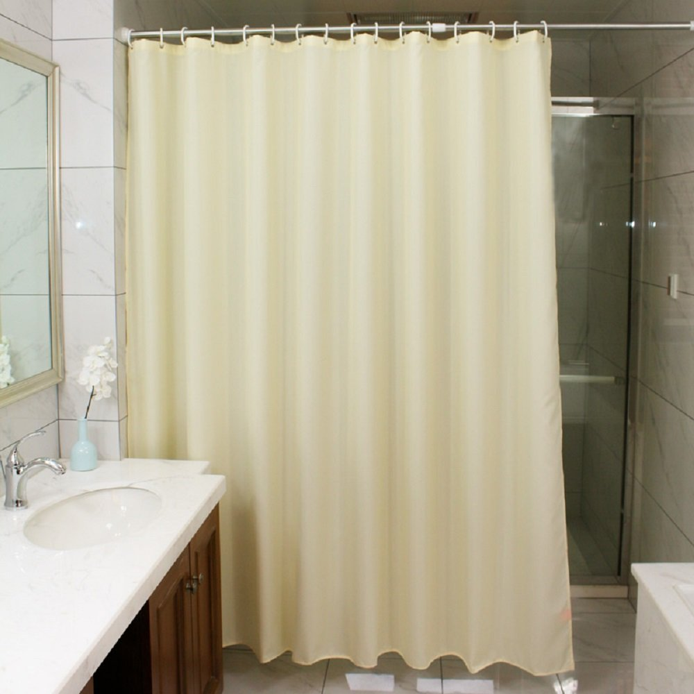 Curtain Liner Fabric Shower Curtain Fashion Design Hotel Decorative Curtains, Light Beige