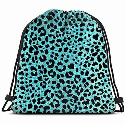 Jaguar Skin Seamless Pattern Animal Print Backgrounds Textures Cheetah Beauty Fashion Drawstring Backpack, Bag for Sport Outdoor Travel Beach Hiking