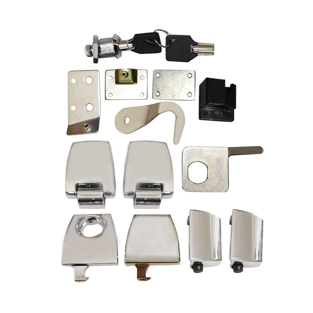 ZXMOTO Hardware Kit Latches Hinges & Lock Set Fit For Road King Tour Pack 2006-2013 by ZXMOTO