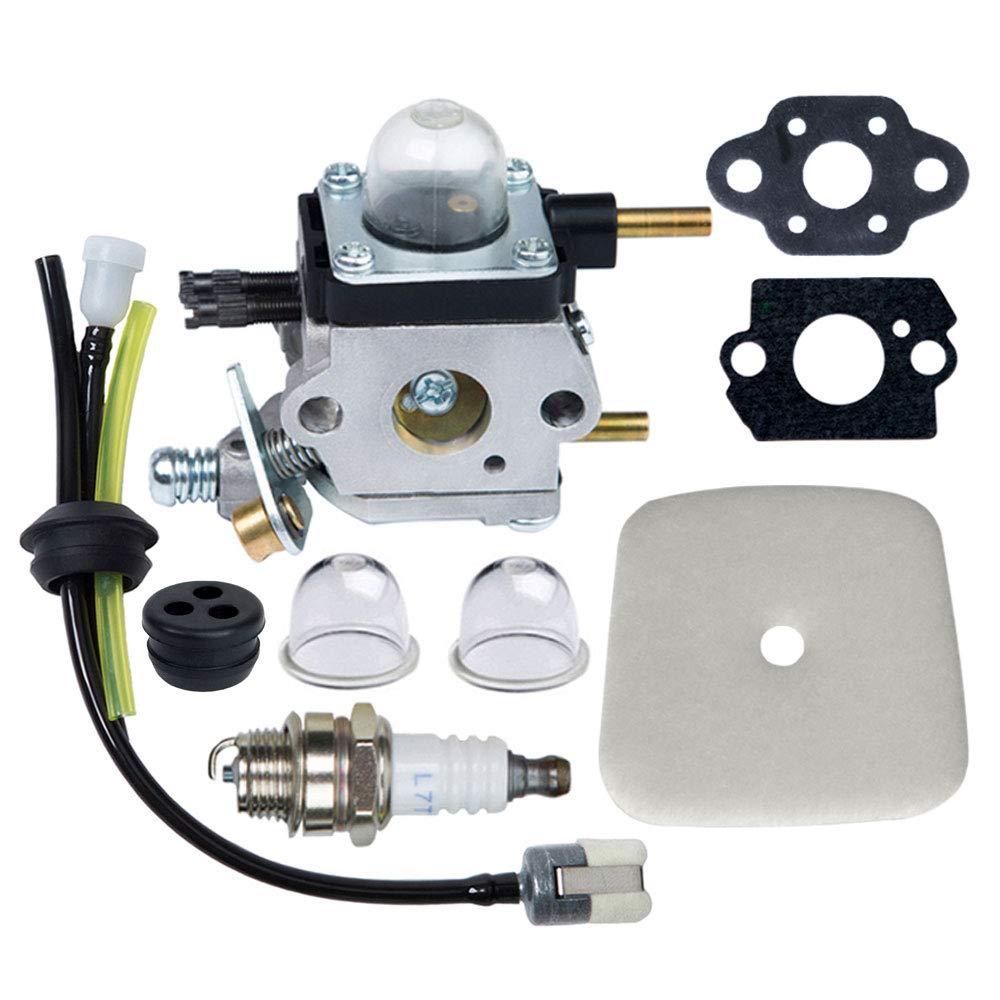 HOODELL C1U-K82 C1U-K54A Carburetor, for Mantis Tiller 7222 7222M 7225 7920, Echo TC-210 HC-1500, Premium Cultivator Carb, Plus Rebuild Kit Primer Bulb Fuel Line and More