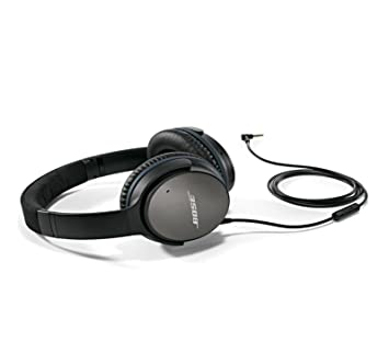 7f0317a741c Bose QuietComfort 25 Acoustic Around-Ear Noise Cancelling Wired Headphones  for Apple Devices - Black
