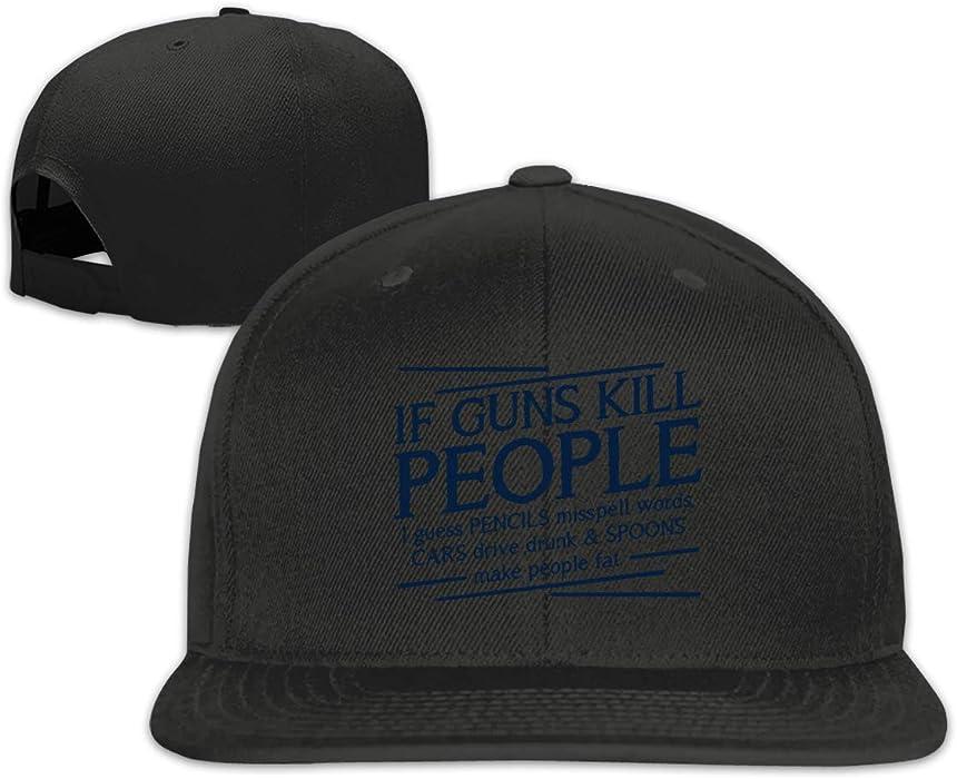 e47a29b0199e4 SFDBQ If Guns Kill People Flat Brim Baseball Cap Snapback Hat Adjustable Baseball  Hat Black