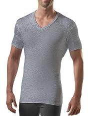 T Thompson TEE Sweatproof Undershirt for Men with Underarm Sweat Pads (Slim Fit, V-Neck)