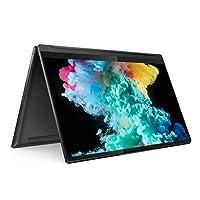 Lenovo Yoga 9 11th Gen Intel Core i7 14 inch (35.56cms) 4K Ultra HD IPS 2-in-1 Touchscreen Laptop (16GB/1TB SSD/Windows 10/MS Office 2019/Fingerprint Reader/Shadow Black/Leather Surface/1.44Kg),82BG005JIN