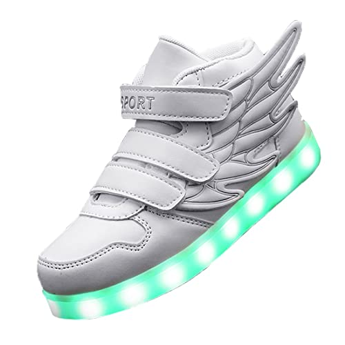 95fe7635d87d Gaorui Kid boy Girl LED Light up Sneaker Athletic Wings Shoe High Student  Dance Boot USB Charge  Amazon.ca  Shoes   Handbags