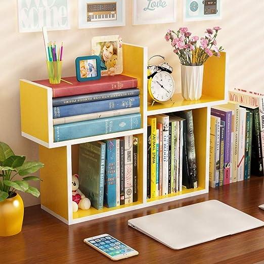 TQ Librería Pequeña Estantería Mesa Simple Mini Librería ...