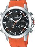 Lorus - RW609AX9 - Montre Homme - Quartz Analogique - Digital - Alarme/Chronomètre/Aiguilles/Eclairage - Bracelet Caoutchouc Orange