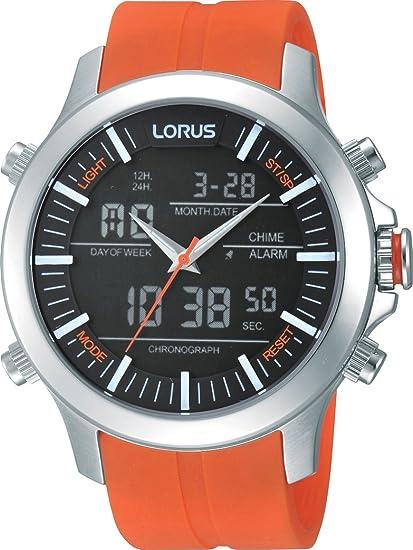 Lorus Reloj de Cuarzo para Hombre con Correa de Goma - RW609AX9: Amazon.es: Relojes