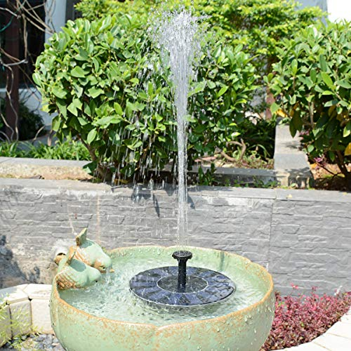 TOMONOLO Solar Fountain Pump for Bird Bath, 1.4W Free Standing Solar Powered Water Pump for Birdbath,Garden Pond Outdoor by TOMONOLO (Image #5)