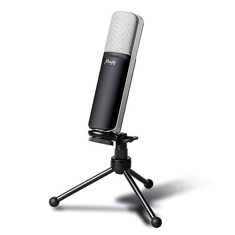 Mugig USB Micrófono Condensador Profesional con Soporte de ...
