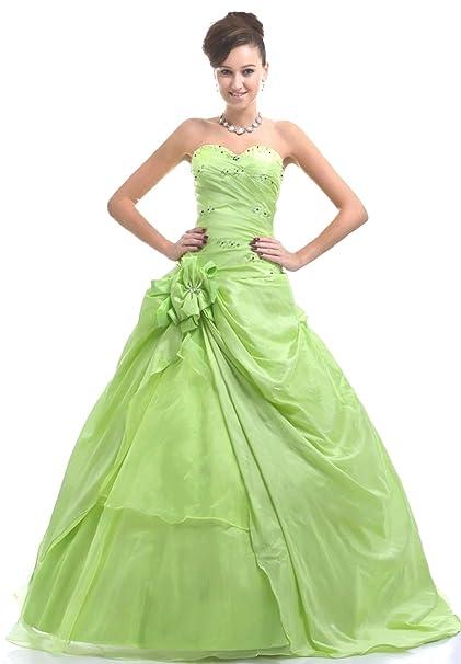 Vestidos de fiesta verde limon