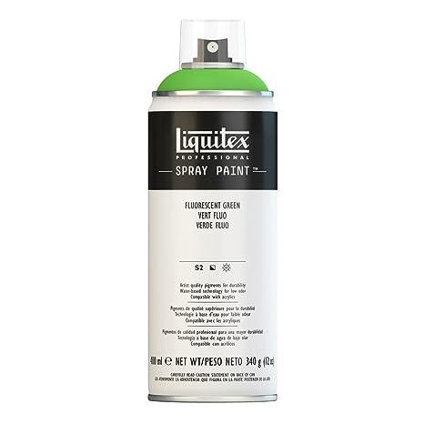 Liquitex Professional Spray Paint - Acrylfarbe, Farbspray auf Wasserbasis, lichtecht, 400 ml - Grün - fluoreszierend