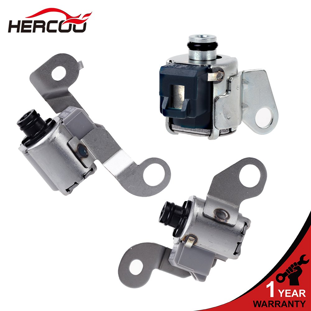 HERCOO A340E A343F Transmission Shift Solenoid Kit Compatible with 02-04 Toyota Tacoma/4Runner/Tundra/Sequoia